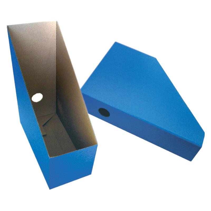 Dokumentu boks Smiltainis kartona, platums 11,2 cm zils