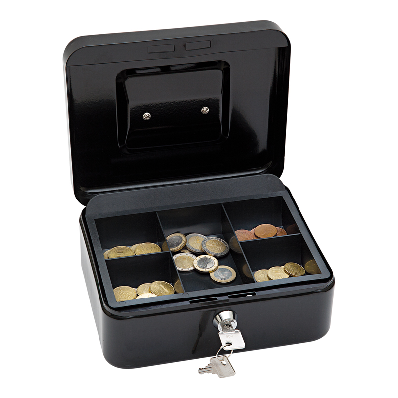 Naudas kaste WEDO ar izmēru 200x160x90mm, melna