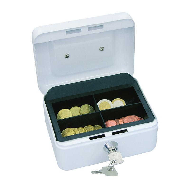 Naudas kaste WEDO ar izmēru 152x115x80mm, balta