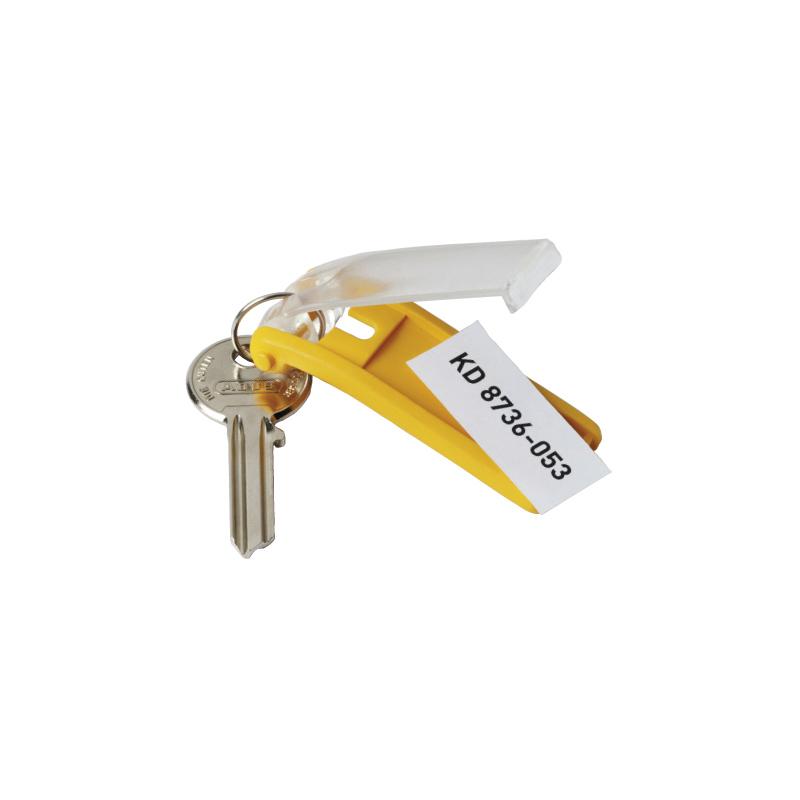 Atslēgu piekariņi DURABLE 6 gab., dzeltena krāsa