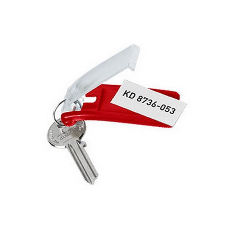 Atslēgu piekariņi DURABLE 6 gab., sarkana krāsa