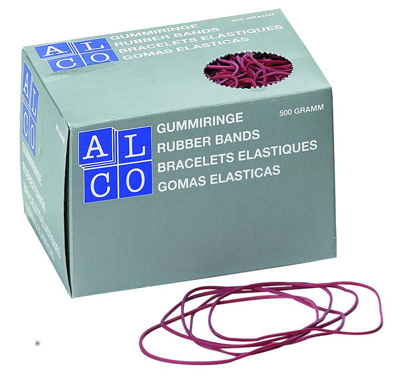 Gumijas naudas iesaiņošanai ALCO 1.5x65mm, 500g, sarkana