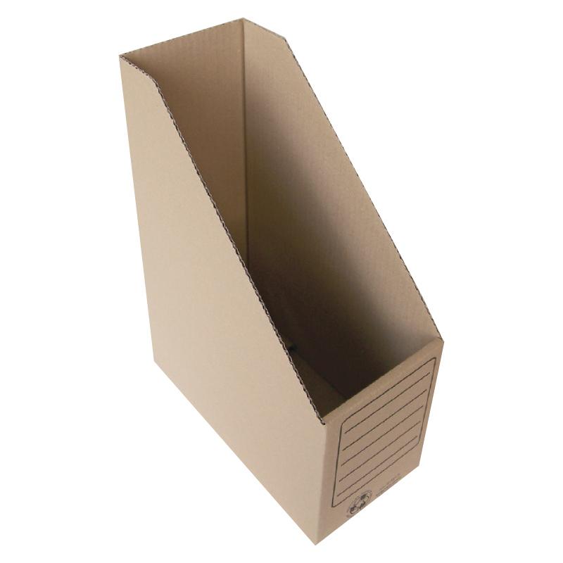 Arhīva bokss SMLT no brūna gofrēta kartona, 330x250x120 mm
