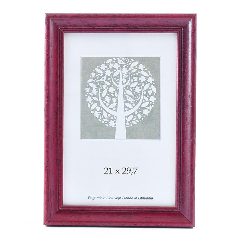 Fotorāmis SAVEX Spring 1201195, A4, koka, 21 x 29.7 cm, ķiršu krāsa