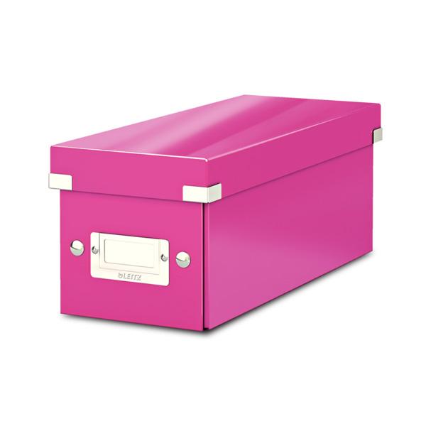 Arhīva kaste Click & Store CD LEITZ WOW, rozā krāsa