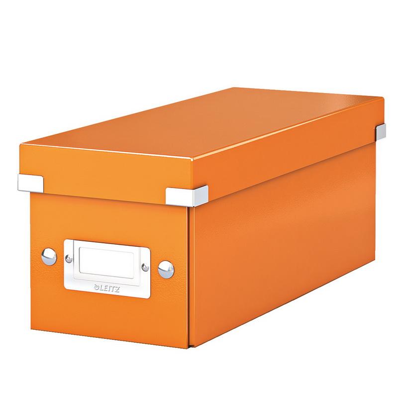 Arhīva kaste Click & Store CD LEITZ WOW, oranža krāsa