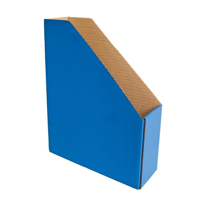 Dokumentu bokss Smiltainis no gofrēta kartona, platums 82 mm, zila krāsa