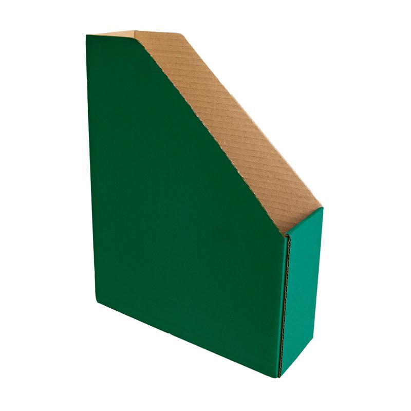 Dokumentu bokss Smiltainis no gofrēta kartona, platums 82 mm, zaļa krāsa