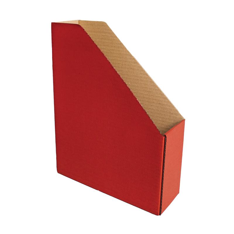Dokumentu bokss Smiltainis no gofrēta kartona, platums 82 mm, sarkana krāsa