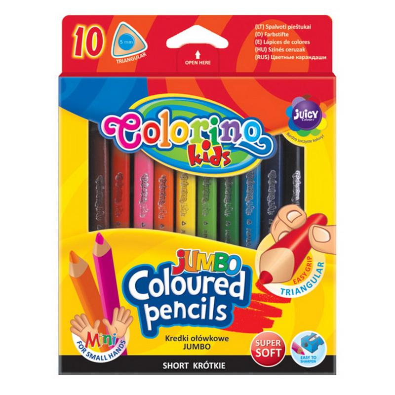 Krāsainie zīmuļi COLORINO JUMBO 10 krāsas