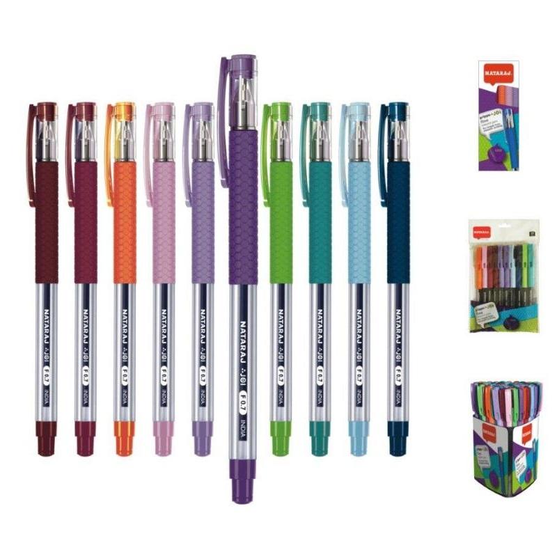 Lodīšu pildspalva NATARAJ Grippo Joi Fine 0.7 mm, asorti tintes krāsa