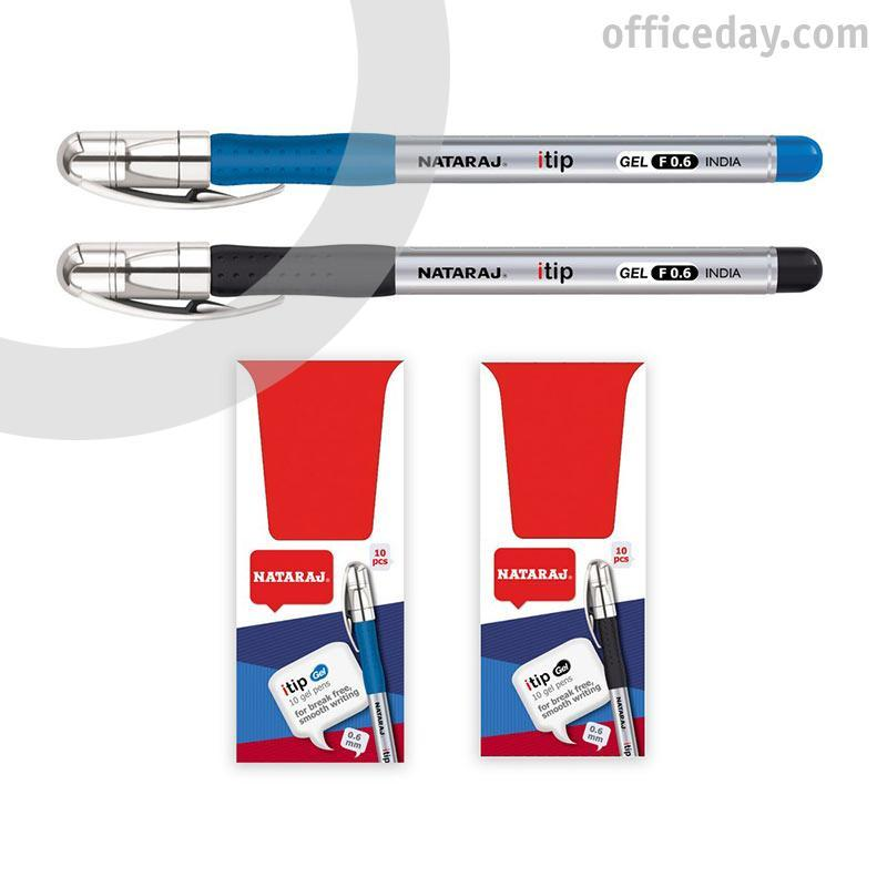 Gela pildspalva NATARAJ ITIP FINE 0.6mm, zila tint..