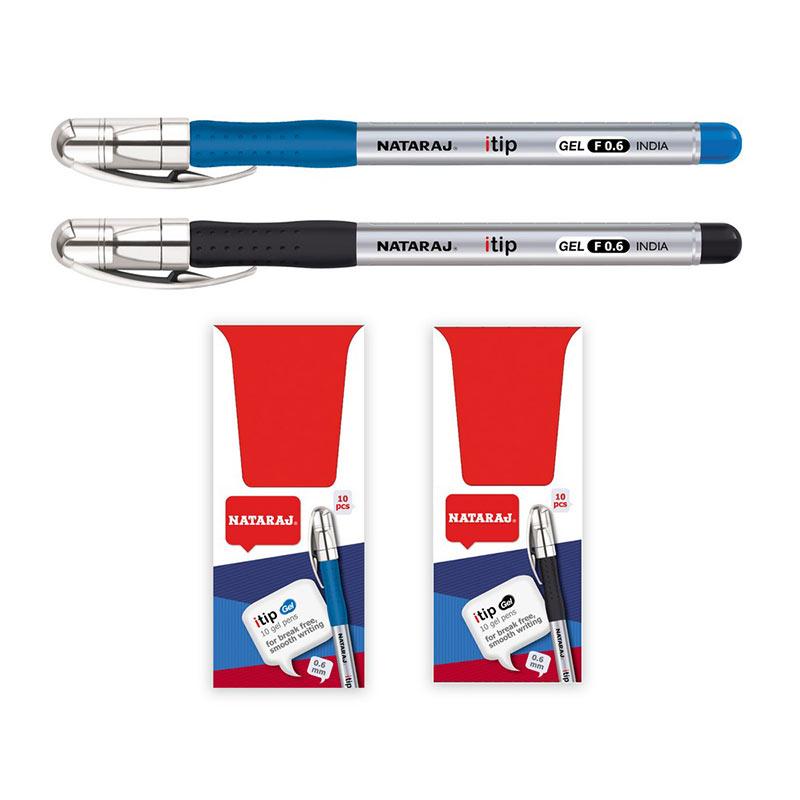 Gela pildspalva NATARAJ ITIP FINE 0.6mm, melna tin..