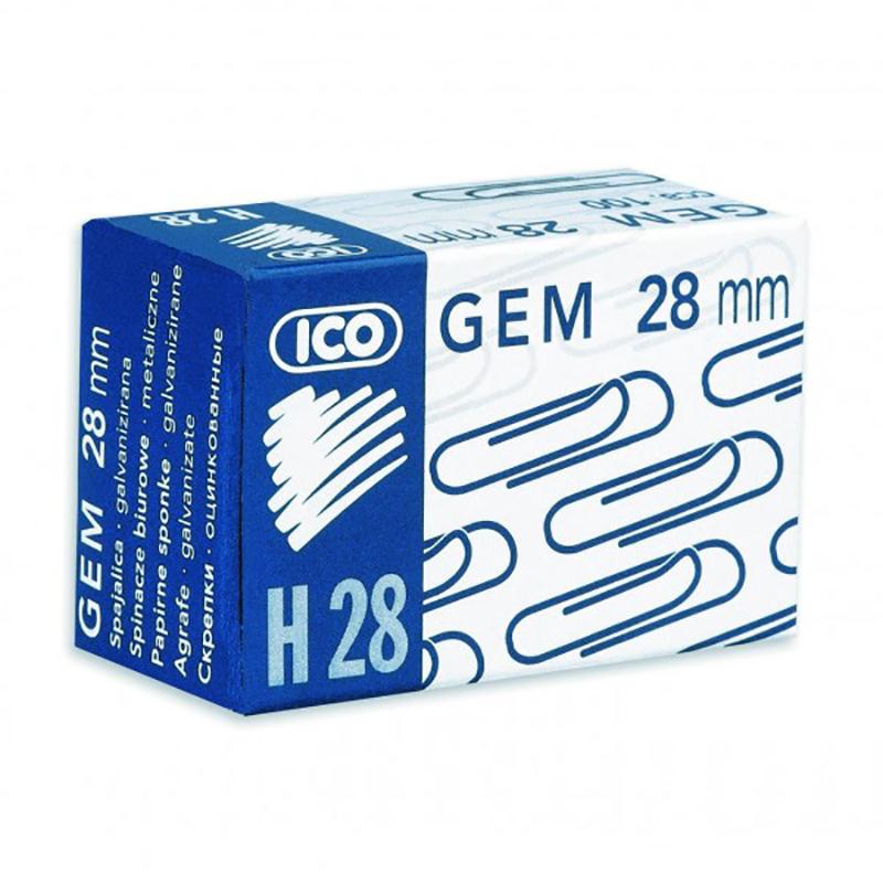 Saspraudes ICO 28 mm, 100 gab/kastītē