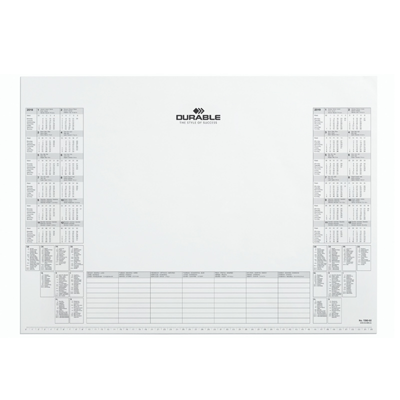 Galda segums (papīra ieliktnis) DURABLE 57 x 40.5 cm, 25 gab.