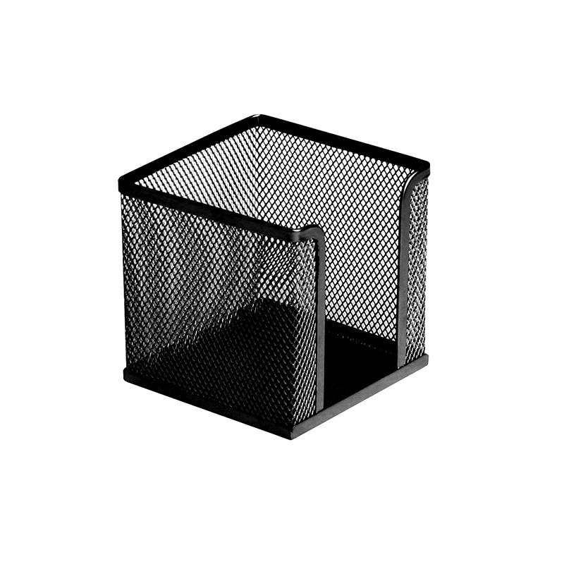 Paliktnis piezīmju papīram ICO, perforēts metāls, 10 x 10 cm, melns
