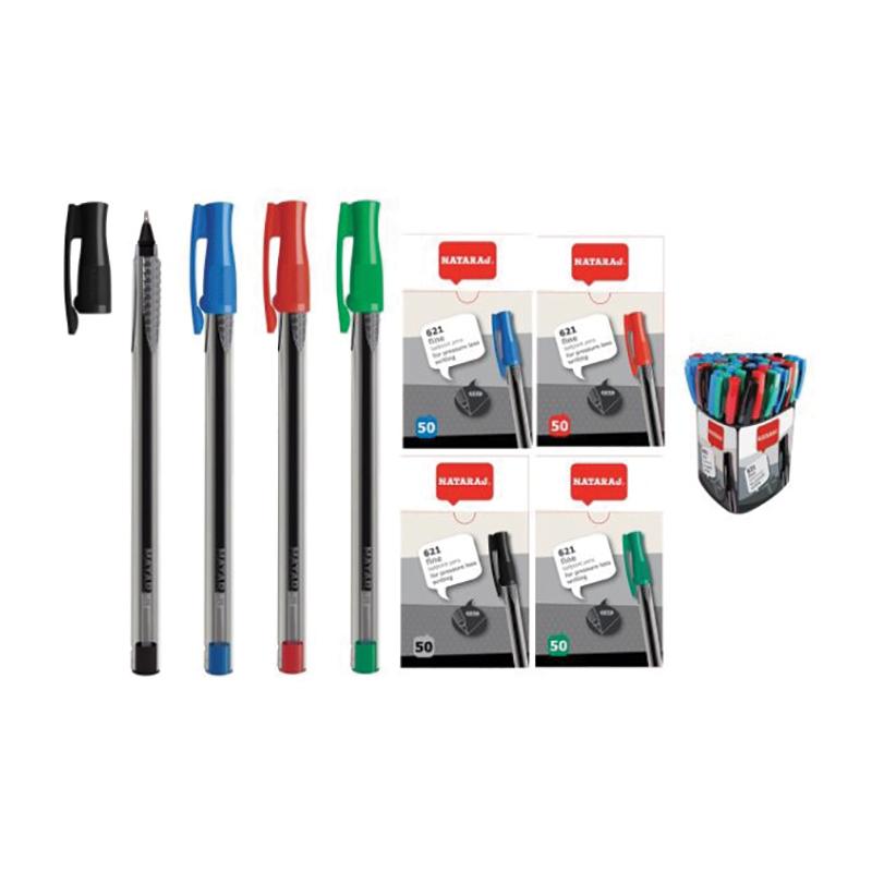 Lodīšu pildspalva NATARAJ 621 0.7 mm, zila