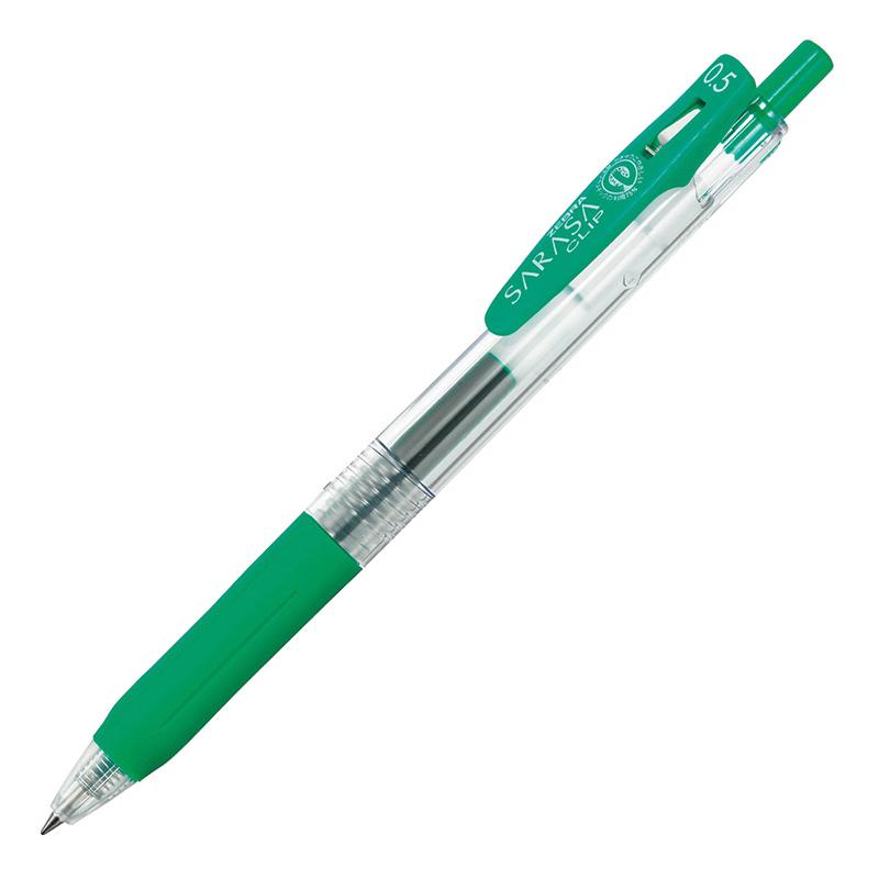 Gela pildspalva ZEBRA SARASA Clip Eco 0.5mm zaļa