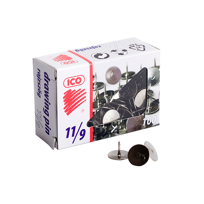 Saspraudes ICO, 11/9, 25 mm, 100 gab