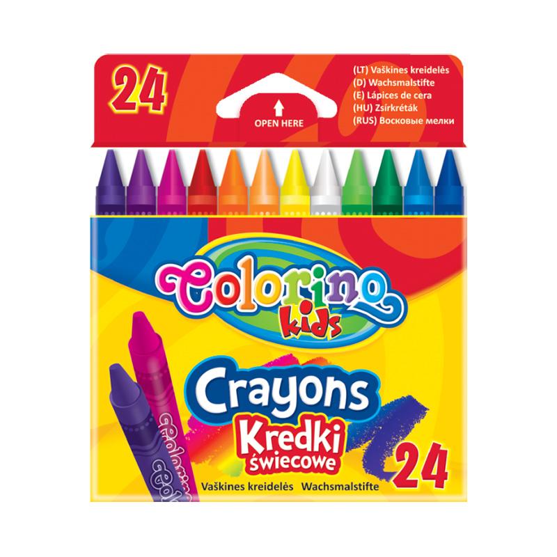 Vaska krītiņi COLORINO 24 krāsas