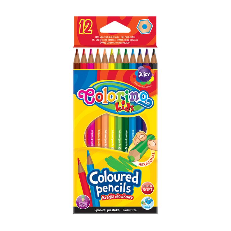 Krāsainie zīmuļi COLORINO KIDS 12 krāsas