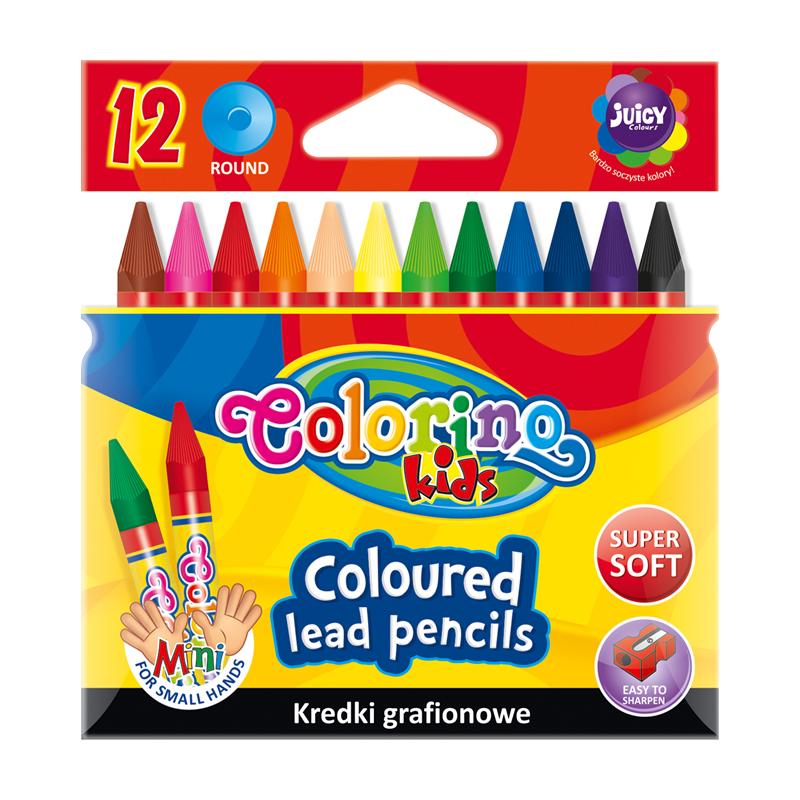 Krāsains grafīts COLORINO KIDS 12 krāsas