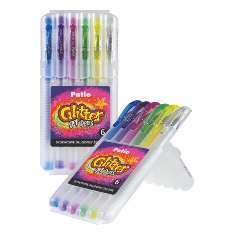 Gela pildspalva PATIO, 6 krāsu komplekts