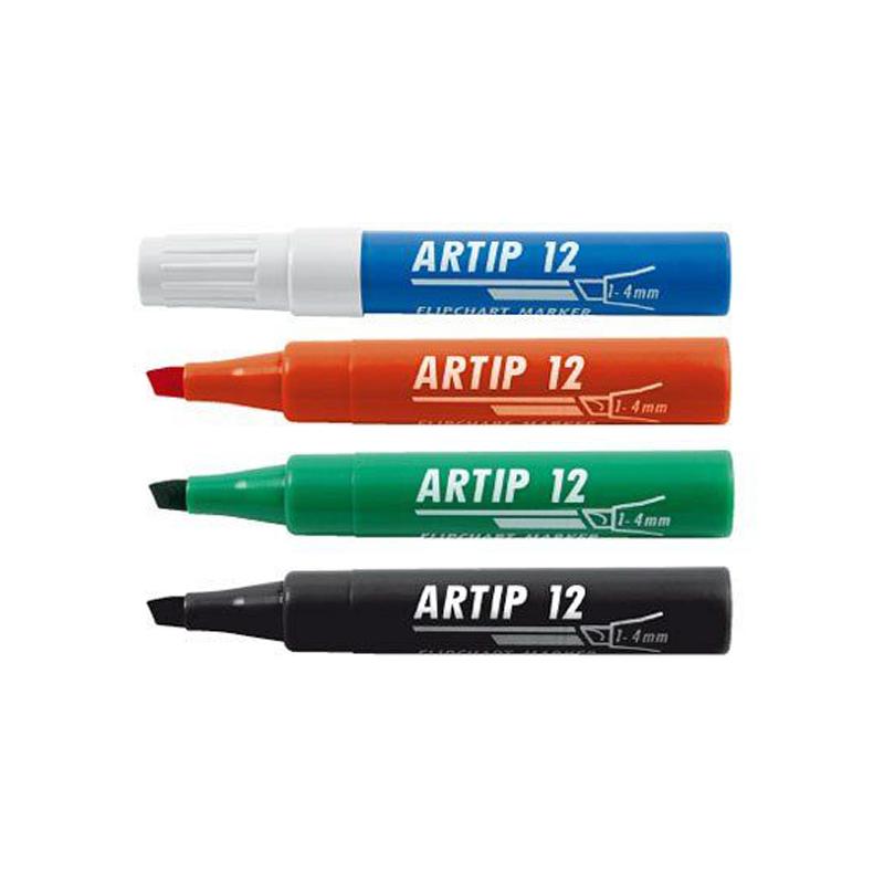 Marķieris flipchart papīram ICO ARTIP12 1-4 mm, slīps serdenis, sarkanā krāsā