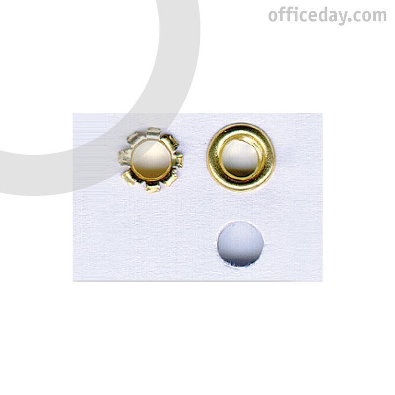 Kniedes KANGARO, 4 mm diametrs, zeltītas, 250 gab./iepak.
