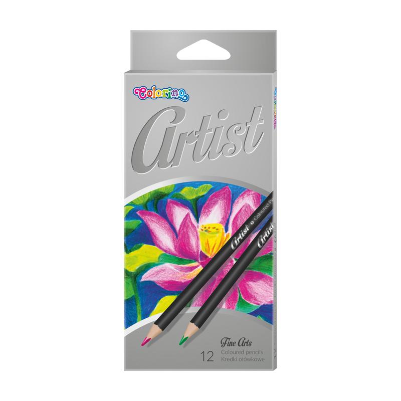 Krāsainie zīmuļi COLORINO Artist 12 krāsas
