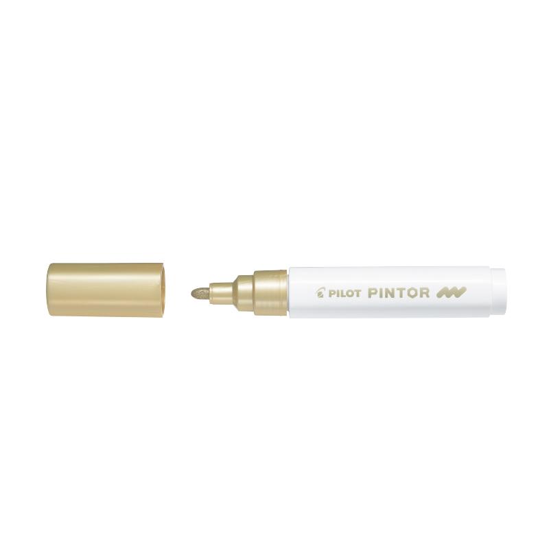 Noturīgais marķieris PILOT PINTOR 1.4mm, konisks, zelta