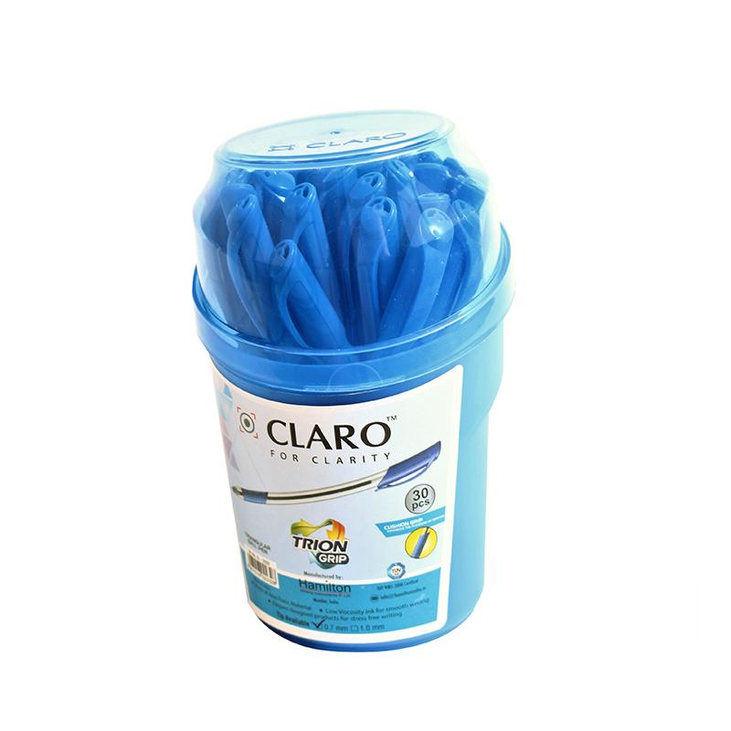 Lodīšu pildspalva CLARO TRION GRIP 0.7 mm, zila