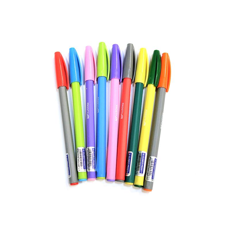Lodīšu pildspalva CLARO FROSTY JOY 0.7 mm, 8 krāsu..
