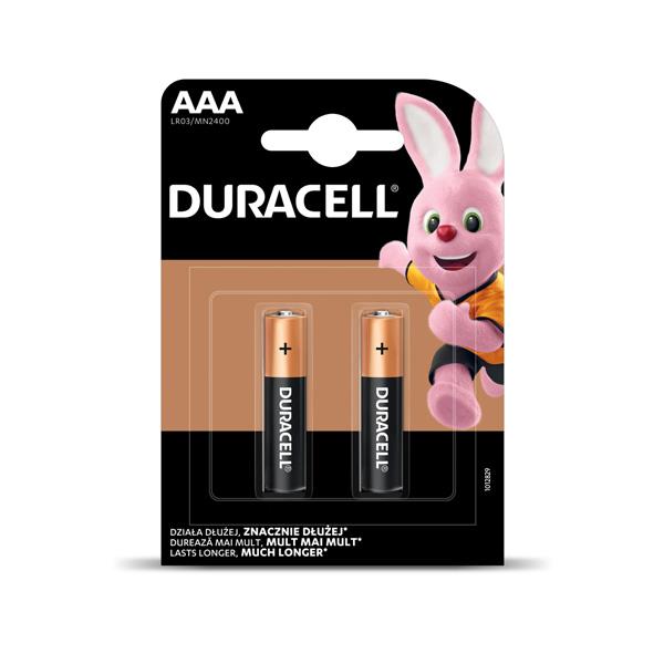 Baterija DURACELL Basic AAA, LR03 2 gab./iepak.