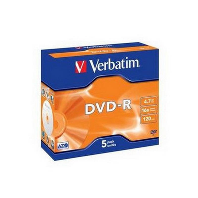 Kompaktdisks VERBATIM DVD-R 4.7GB 16x, Jewel