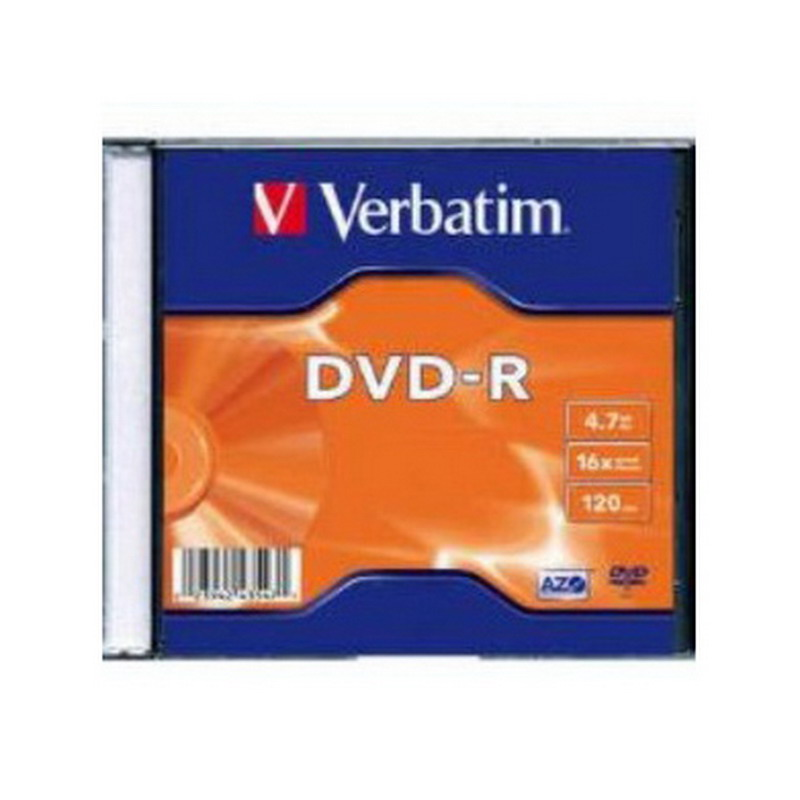 Kompaktdisks Verbatim DVD-R 4.7GB 16x, AZO, slim