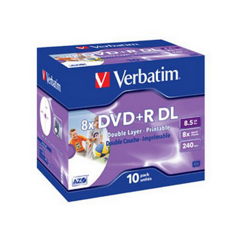 Kompaktdisks VERBATIM DVD+R 8.5GB, Doublelayer