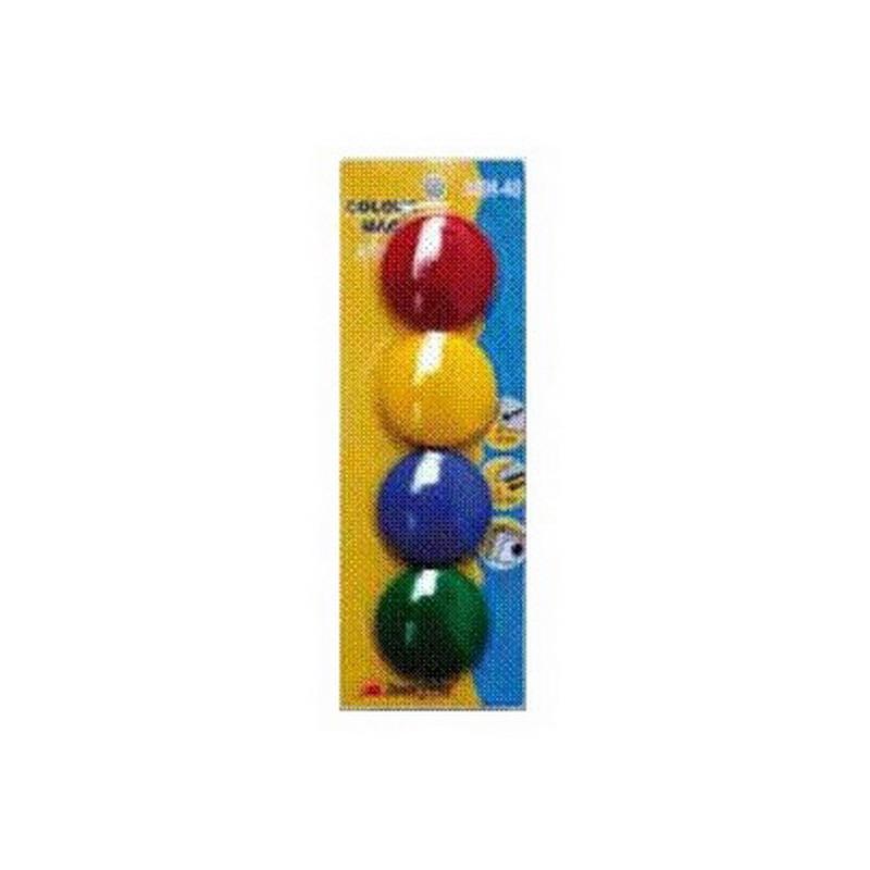 Krāsaini magnēti 40 mm