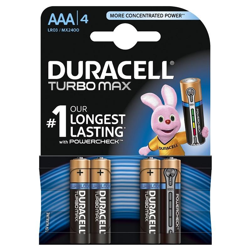 Baterija DURACELL Turbo AAA, LR03