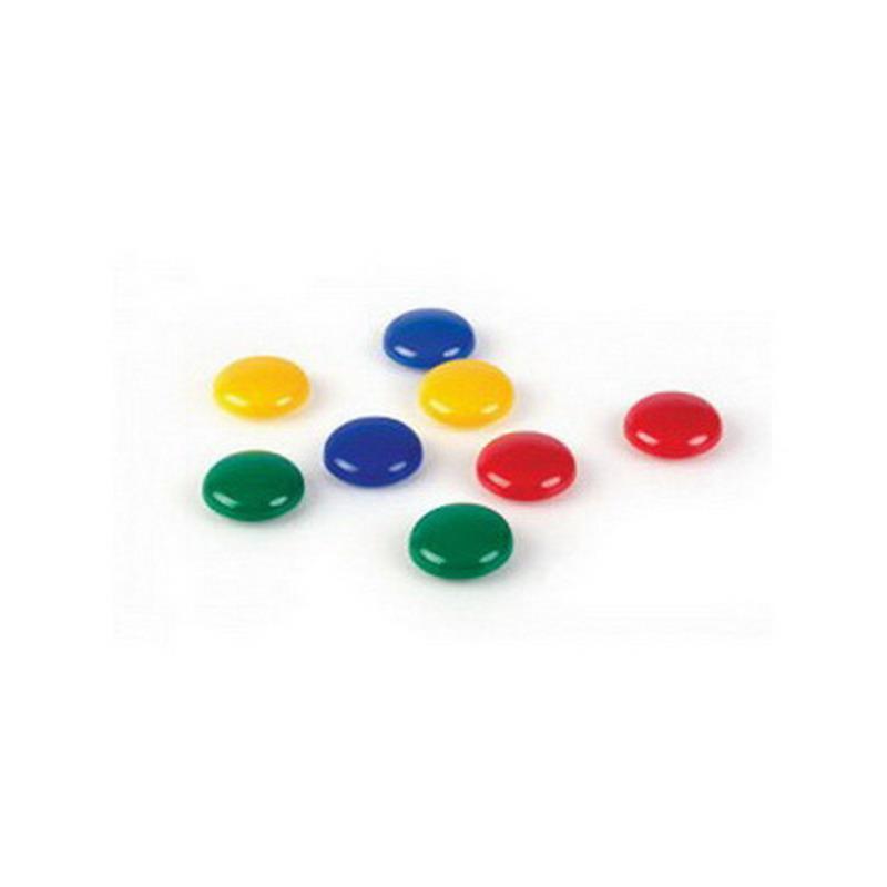 Tāfeles magnēti FORPUS, 30mm, krāsaini, 8 gab./iepak.