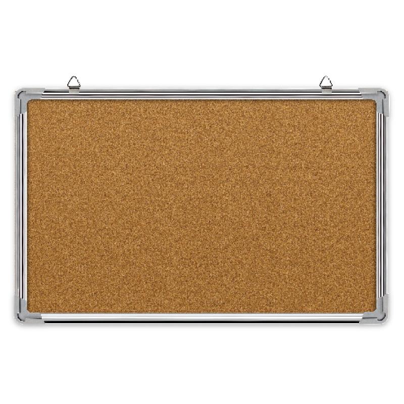 Korķa tāfele FORPUS alumīnija rāmī, 90 x 120 cm