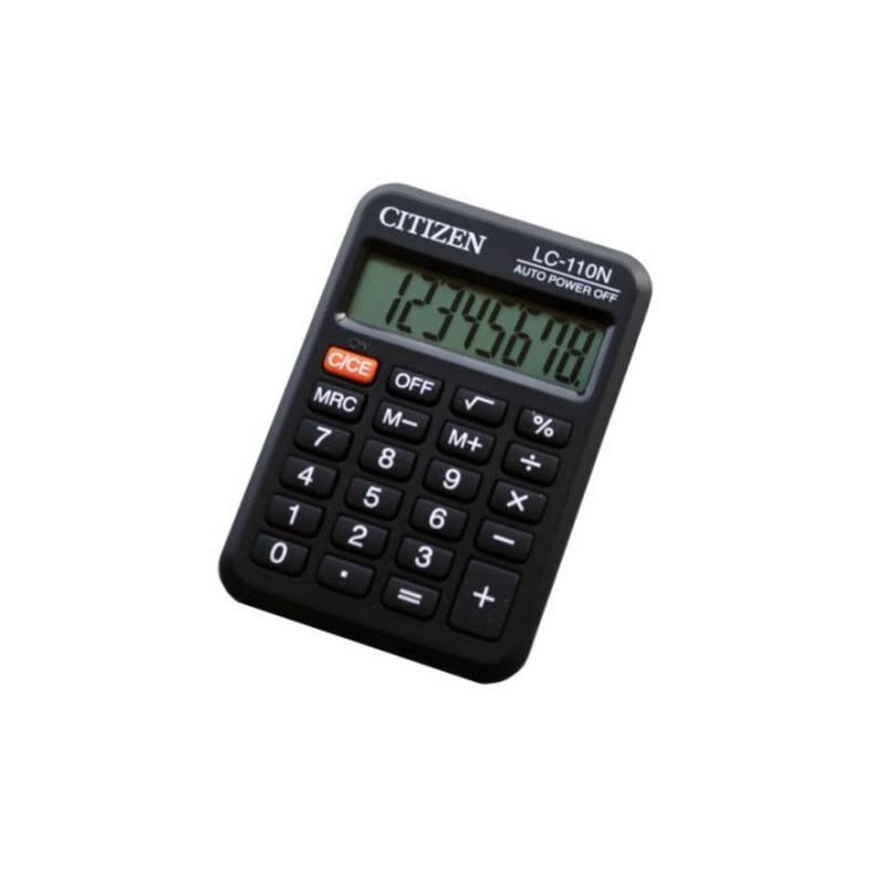 Kalkulators CITIZEN LC-110N, melns