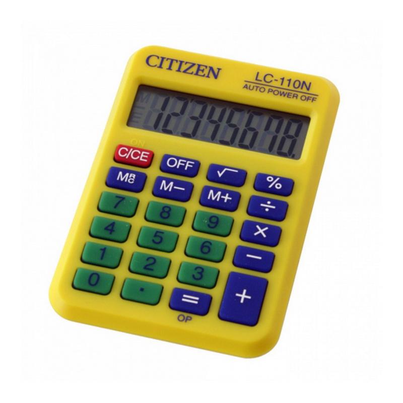 Kalkulators CITIZEN LC-110N, dzeltens