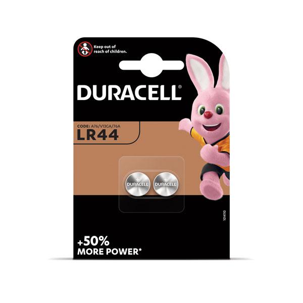 Baterijas DURACELL Alkaline LR44 1.5V, 2 gab./iepak.