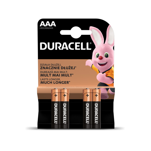 Baterija DURACELL Basic AAA, LR03 4 gab./iepak.
