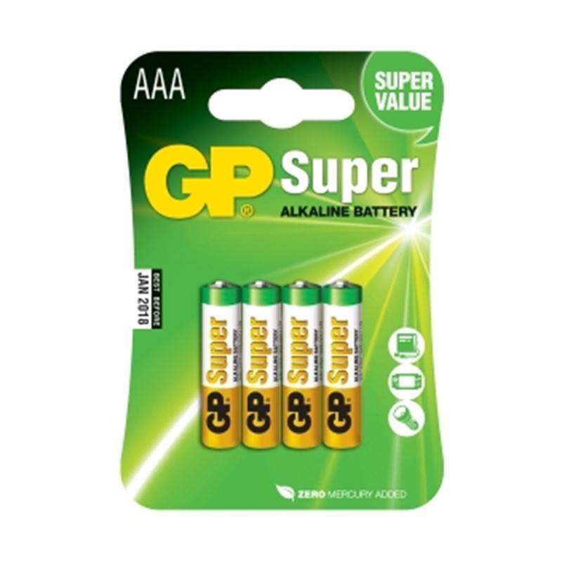 Baterijas GP Super LR03 (AAA), 4 gab./iepak.