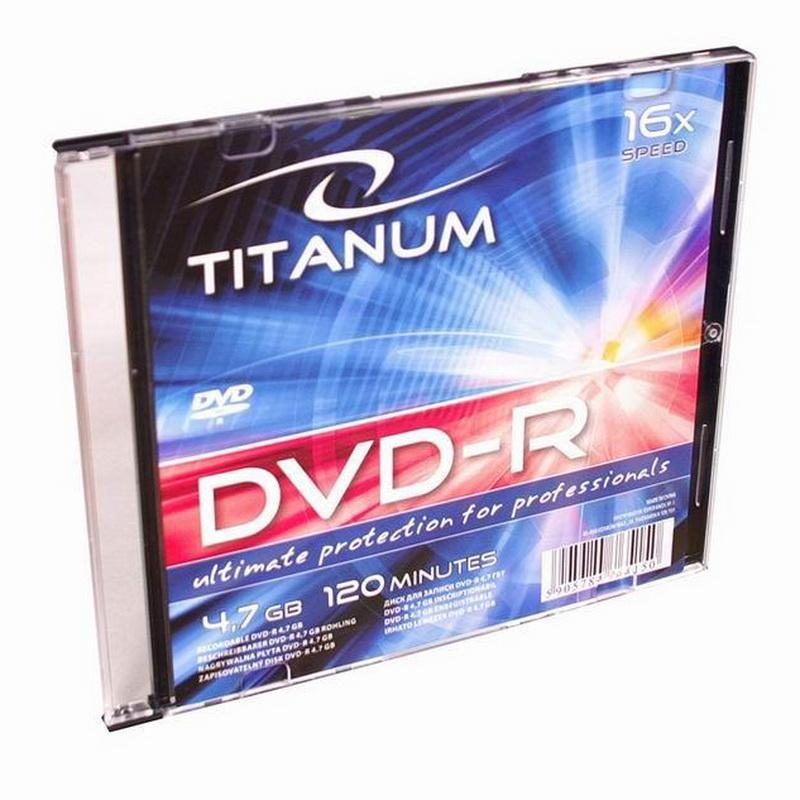 ESPERANZA Titanium DVD-R 4.7GB 16X, Slim box