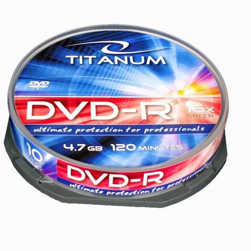 ESPERANZA Titanium DVD-R 4.7GB 16X, cake box, 10 gab./ iepak.