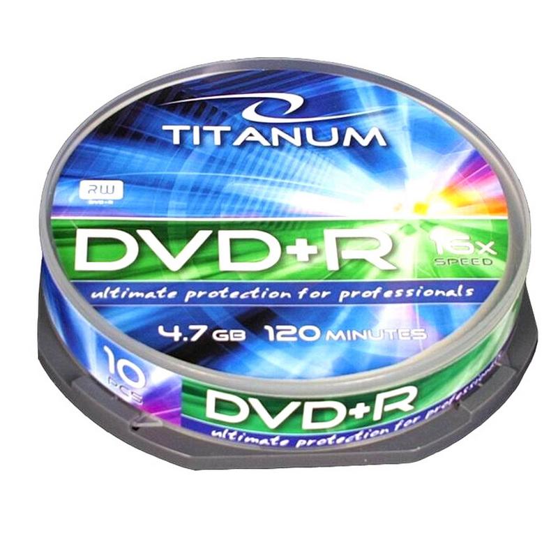 ESPERANZA Titanum DVD+R 4.7GB 16X, cake box, 10 gab./ iepak.