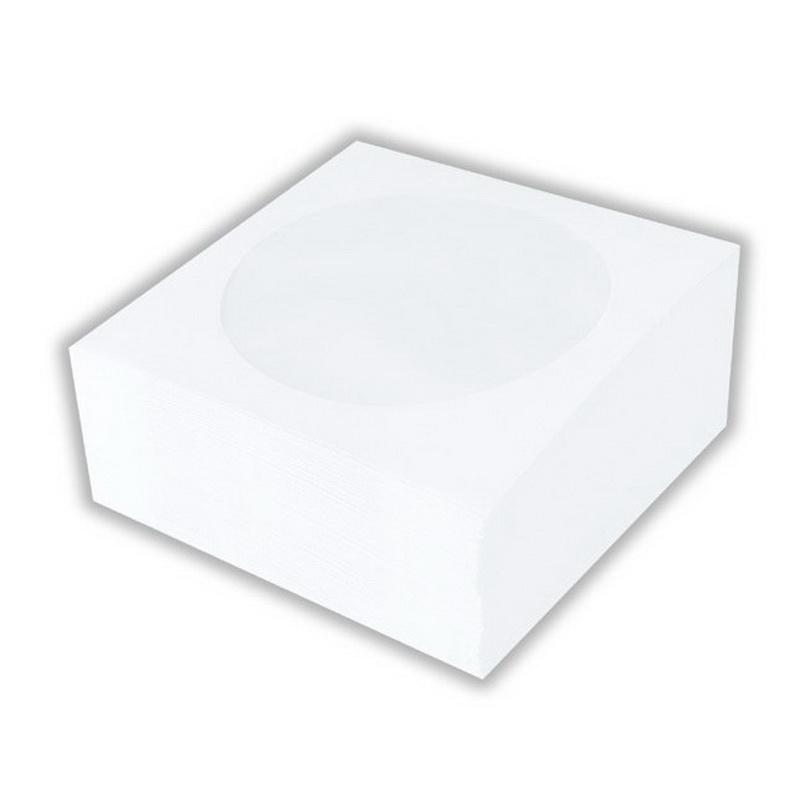 CD/DVD papīra aploksnes ESPERANZA, ar lodziņu, 100 gab./iepak., baltas